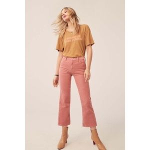 MOTHER The Outsider Crop Bootcut Corduroy Pants